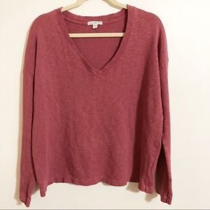 James Perse / v neck sweater / size 4